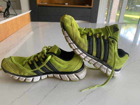 Zapatillas adidas Niños Talle 36 (4 Usa) Verde Fluo