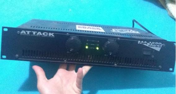 Amplificador Potência Attack 1500 Turbo