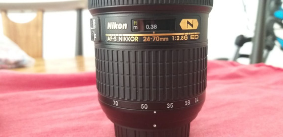 R$ 5.000 Nikon 24-70 Mm 2.8 Ed