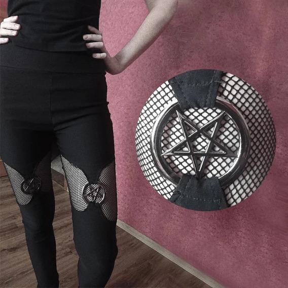 Leggings Goth Pentagrama Importada