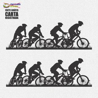 Kit 2x Adesivos Bike Bicicleta Ciclismo Esportes 30cm A169