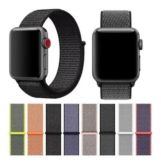 Pulseira Nylon Velcro Loop Para Apple Watch Séries 1 2 3 4