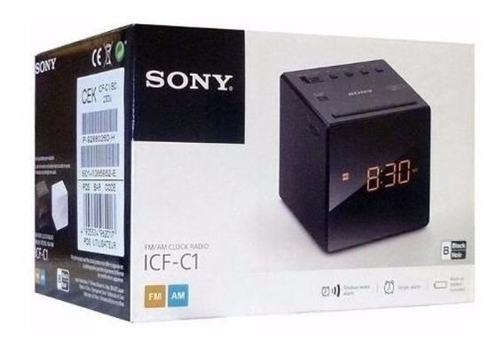 Rádio Relógio Sony Icf-c1 Am/fm Led Função Snooze 110v