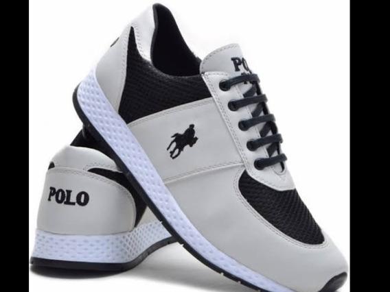 Tênis Masculino Polo Plus Jogging Lançamento Promoção