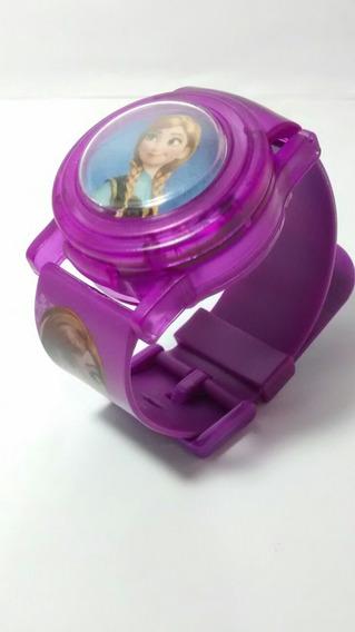 Relógio Infantil Frozen Toca Musica E Pisca Luzes Barato
