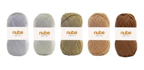 Kit Hilado Nube Soft 4/7 X 5 Ovillos - 1 Ovillo Por Color