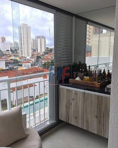 Imagem 1 de 17 de Ref: 3721 - Belo Apartamento Novo No Bairro Vila Regente Feijó, Com 2 Dorms (1 Suíte), 2 Vagas, Sala 2 Ambientes, Terraço  Grill, 60 M² Útil. - 3721