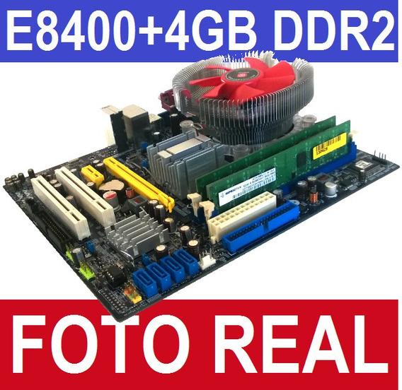 Kit Intel Lga 775 Foxconn G31mx+ Core 2 Duo E8400 + 4gb Ddr2