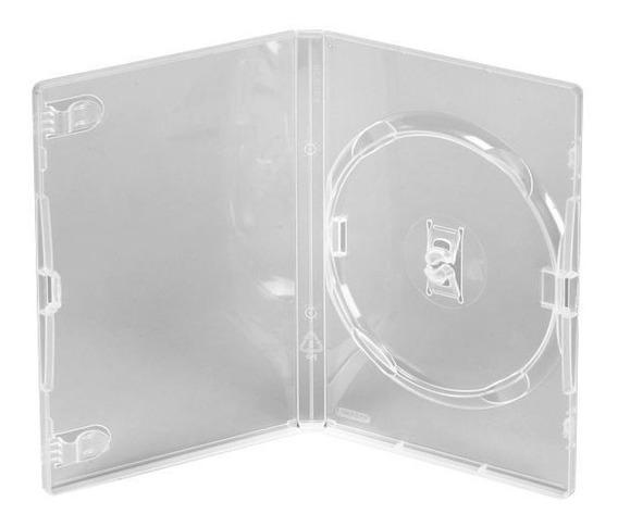 100 Estojo Capa Box Transparente P/ Dvd Bem Resistente