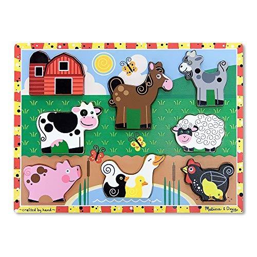 Melissa - Doug Farm Puzzle Grueso De Madera (8 Piezas)