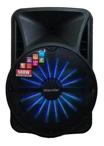 Caixa De Som Amplificada Bluetooth 500w Woofer Polyvox