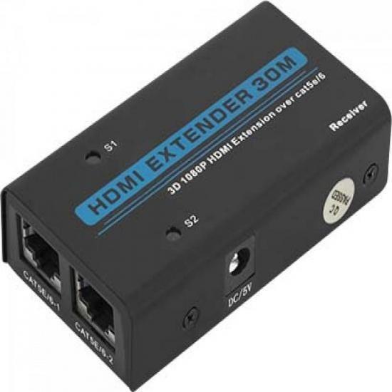 Extensor De Hdmi 1080p 3d Com Lan Rj45 30m Cb0332 Preto Ront