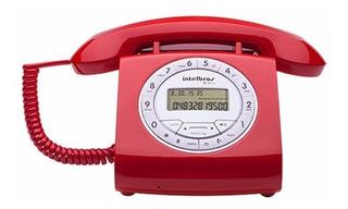 Telefone Retrô Com Fio Intelbrás