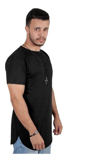 Kit Com 3 Camisas Blusas Masculinas Long Line Oversize Swag