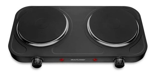 Imagem 1 de 3 de Fogão Cooktop Elétrica Multilaser Easy Cook Duo  Preto 127v