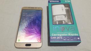 Celular Samsung Galaxy J4 16gb Dual + Carregador (leia).