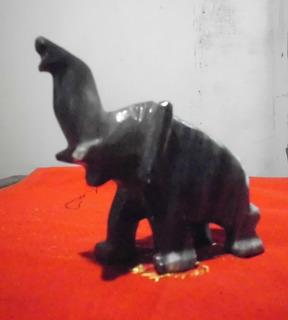 Elefante De Cuarzo Gris