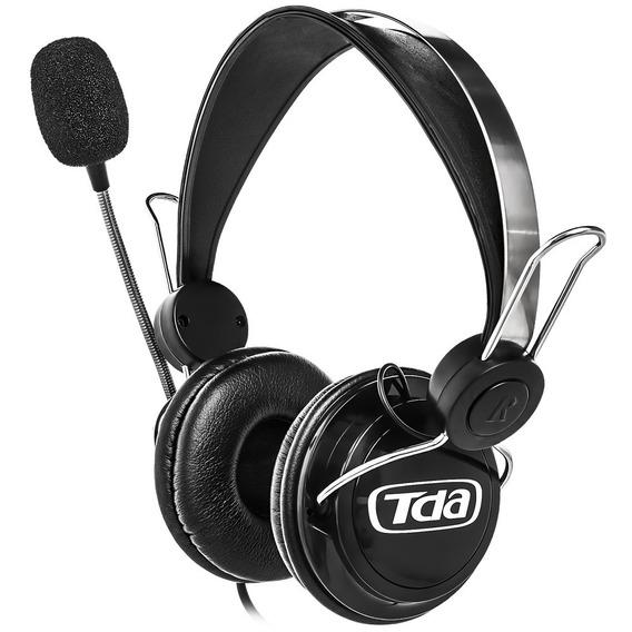 Fone De Ouvido Gamer Preto Tda Td-7500 Headset