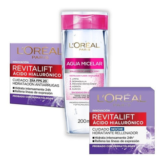 Crema Antiarrugas Loreal Revitalift Kit Acido Hialuronico