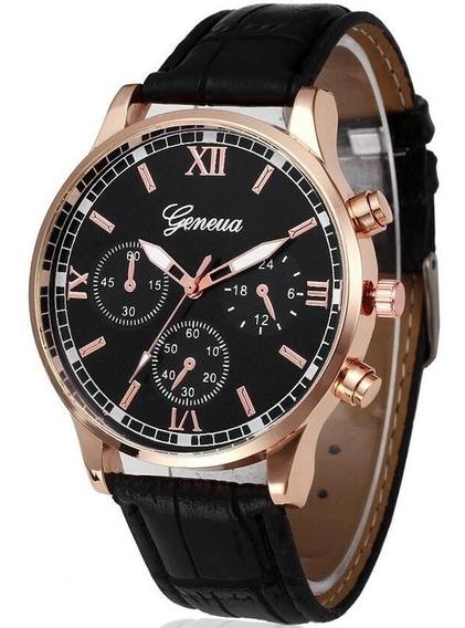 Relógio Geneva Masculino Couro