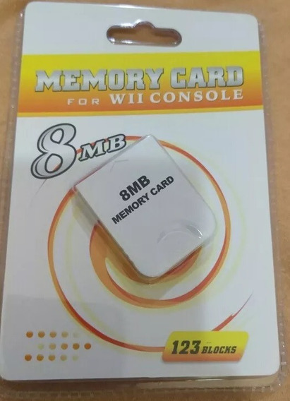 Memory Card C/ 123 Blocos 8mb Para Gamecube E Wii