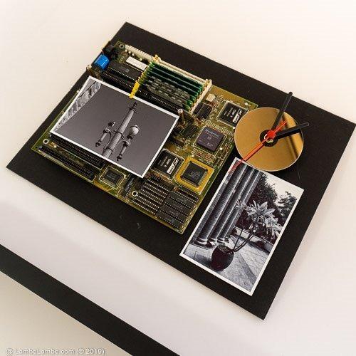 Relógio De Parede Porta Retrato Placa Mãe E Hdd Preto