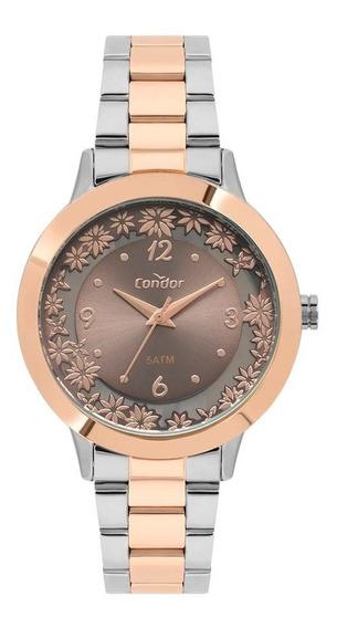Relógio Condor Feminino Co2039bh/5m Misto Rose Analogico