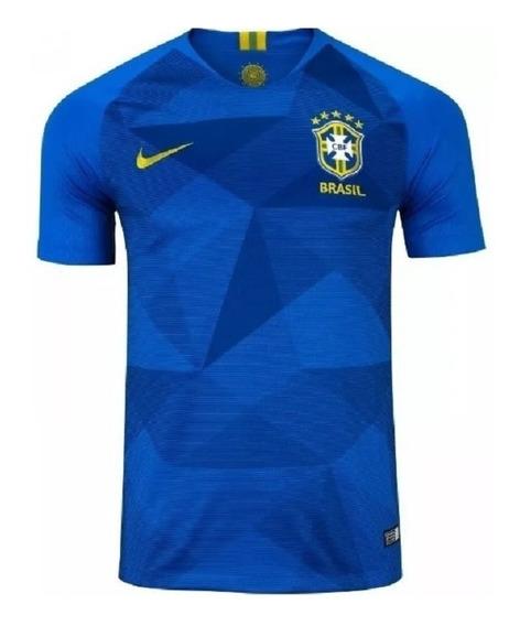 Camisa Da Seleção Brasileira Ii Nike - Masculina - Azul*