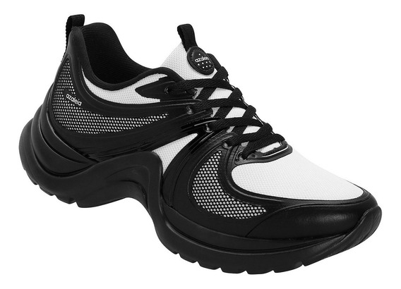 Tênis Azaleia Chunky Sneaker Sem Costura Ugly Shoes Preto