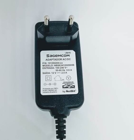 Fonte 12v 2amp Sagemcom Kit 20 Pçs