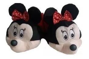 Pantufa Personalizada Adulto E Infantil Mickey Minie Pluto