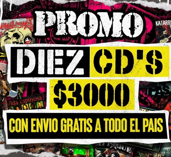 Promo 10 Cds A Eleccion Pinhead Records A $ 3000