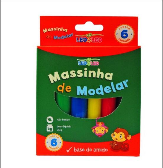 12 Kits Massinha De Modelar Escolar 6 Cores
