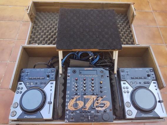 Cdj 400 Com Case, Mixer E Amplificador!
