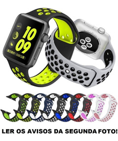 Pulseira Apple Watch 38mm 40mm 42mm 44mm Nike Silicone Sport