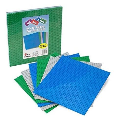 Building Bricks Large 10 X 10 Placas Apilables Para Placas D