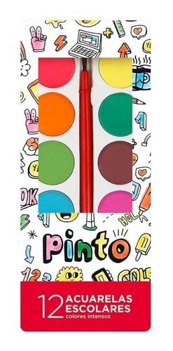 Acuarela Filgo, Estuche X 12 Colores, Incluye Pincel