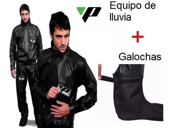 Equipo De Lluvia Moto Pantaneiro L Reforzado + Galochas