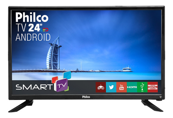 Smart Tv Philco Led 24 Android Ptv24n91sa Bivolt