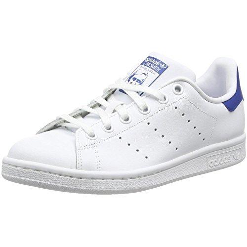 adidas Originals Stan Smith Blanco Jóvenes / Cuero Azul 4,5