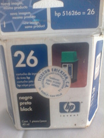 Cartucho Tinta Negro Hp26