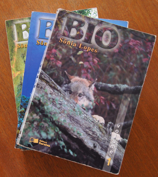 Livro Bio 3 Volumes - Sônia Lopes