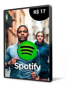 Cartão Spotify R$ 17 Reais - Assinatura 1 Mês Imediato