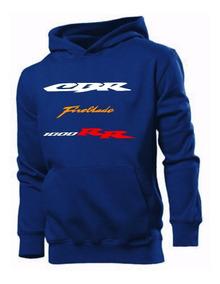Blusa Moleton Honda Cbr Fireblade 1000rr Moletom Frio Moto