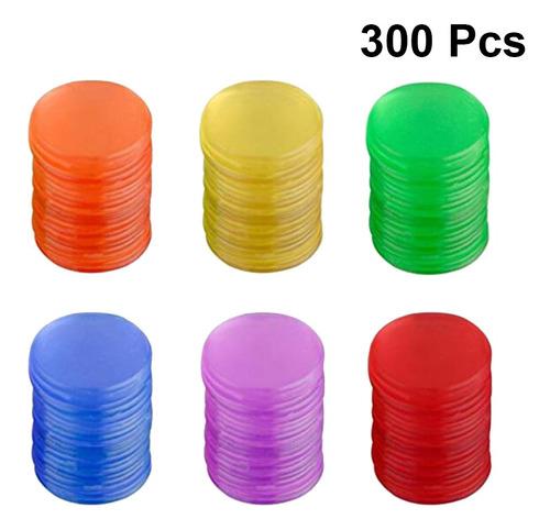 Imagen 1 de 8 de 300 Fichas De Plástico Pro Count Bingo Chips Marcadores Para
