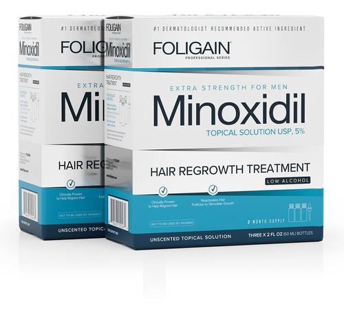 Imagen 1 de 2 de Foligain Minoxidil 5% Bajo Alcohol 6 Meses De Tratamiento