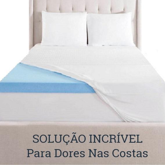 Pillow Top Hérnia De Disco Visco Gel Infusion Queen 5cm