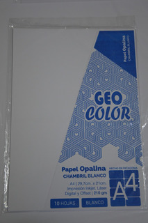 Papel Opalina Chambril 210 G A4 X 100 U Pre-impresa