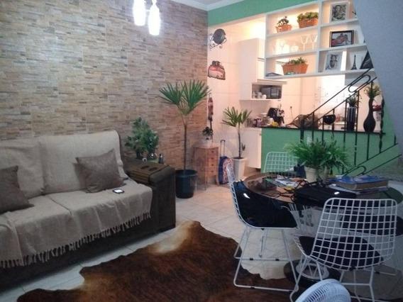 Casa Com 2 Dormitórios À Venda, 80 M² Por R$ 440.000 - Jabaquara - Santos/sp - Ca0589