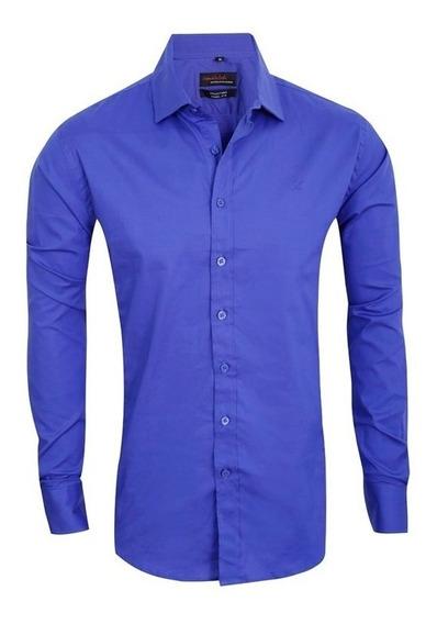 Camisas Elastizadas Hombre Lisas De Vestir Quality Import